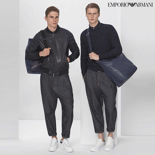 JONAS @jonas.kowalski for the new EMPORIO ARMANI @emporioarmani lookbook S/S 2018 🤵🏼✨😎