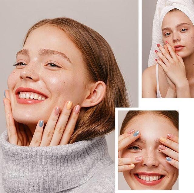 Kim for the new nail polish brand @kiacharlotta 💅🏻💕
